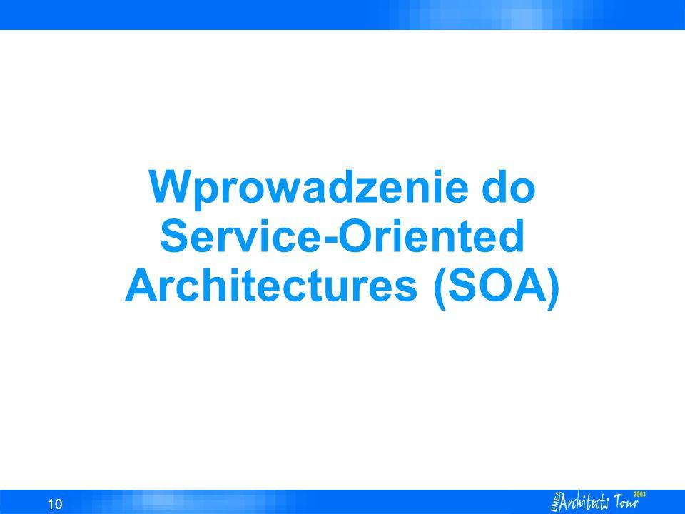 10 Wprowadzenie do Service-Oriented Architectures (SOA)