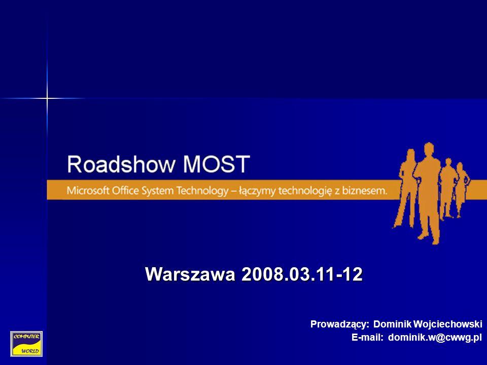 Warszawa 2008.03.11-12 Prowadzący: Dominik Wojciechowski E-mail: dominik.w@cwwg.pl
