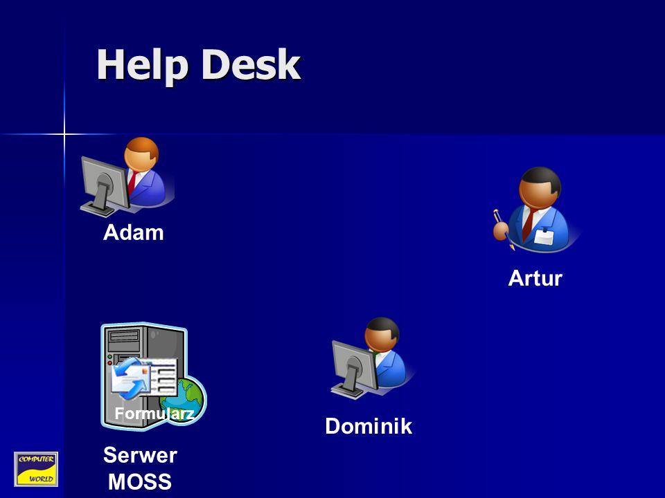 Artur Adam Dominik Serwer MOSS Help Desk Formularz