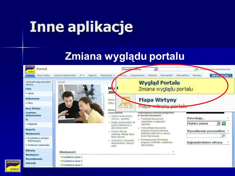 Inne aplikacje Zmiana wyglądu portalu