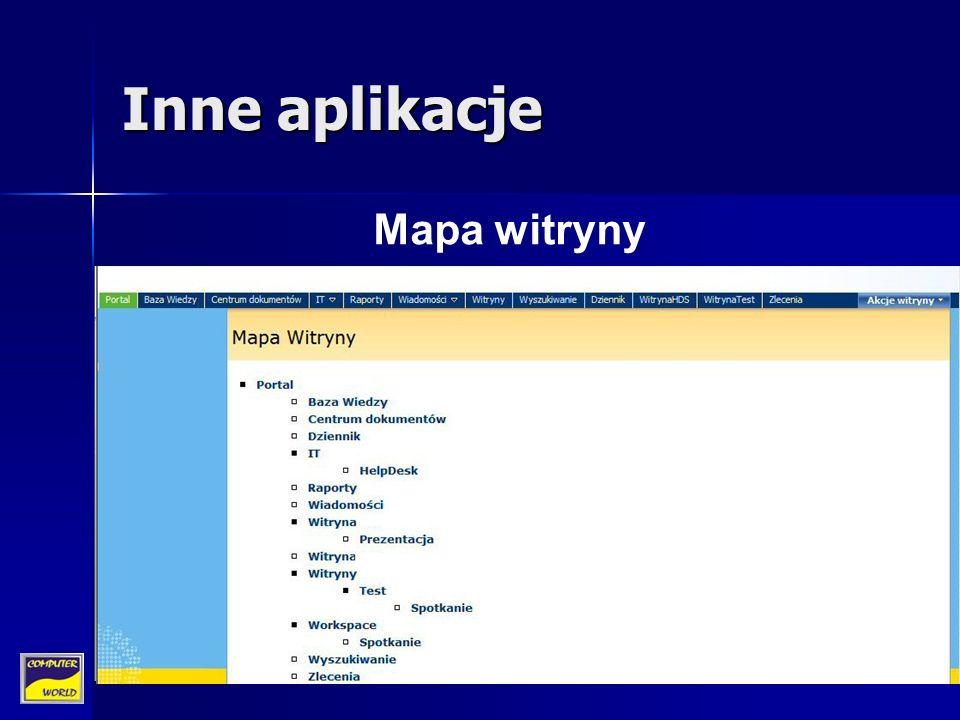 Inne aplikacje Mapa witryny