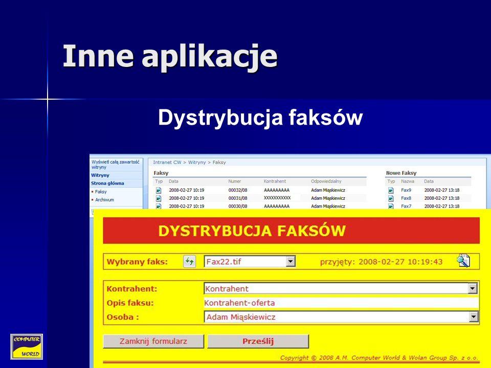 Inne aplikacje Dystrybucja faksów