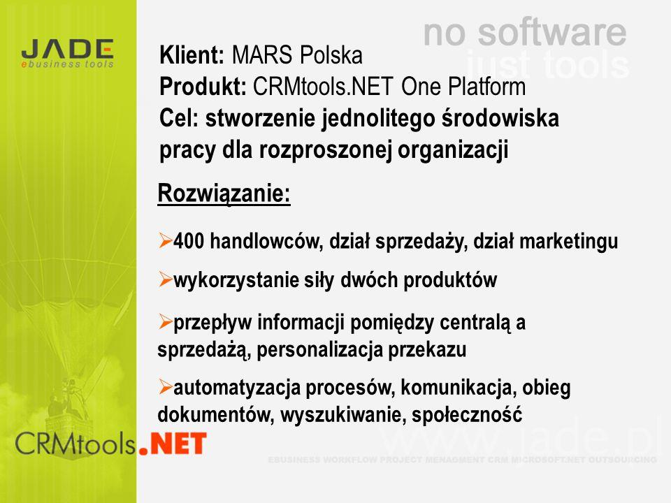 400 handlowców, dział sprzedaży, dział marketingu wykorzystanie siły dwóch produktów przepływ informacji pomiędzy centralą a sprzedażą, personalizacja