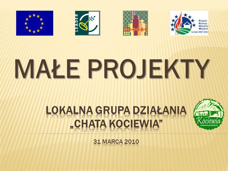 Małe projekty mają przyczyniać się do poprawy jakości życia lub zróżnicowania działalności gospodarczej na obszarze działania LGD (które nie kwalifikują się do wsparcia w ramach działań osi 3 - Jakość życia na obszarach wiejskich i różnicowanie gospodarki wiejskiej) pod warunkiem spełnienia kryteriów dostępu i wyboru, dla których całkowita wartość projektu wynosi od 4 500 zł do 100 000 zł.