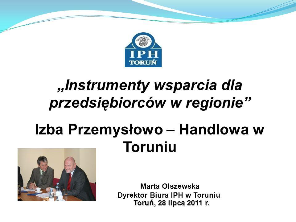 2 Izba Przemysłowo-Handlowa w Toruniu: -jest niezależną i apolityczną organizacją samorządu gospodarczego - zrzesza przedsiębiorstwa na zasadzie dobrowolności -działa na mocy ustawy z dnia 30 maja 1989 r.