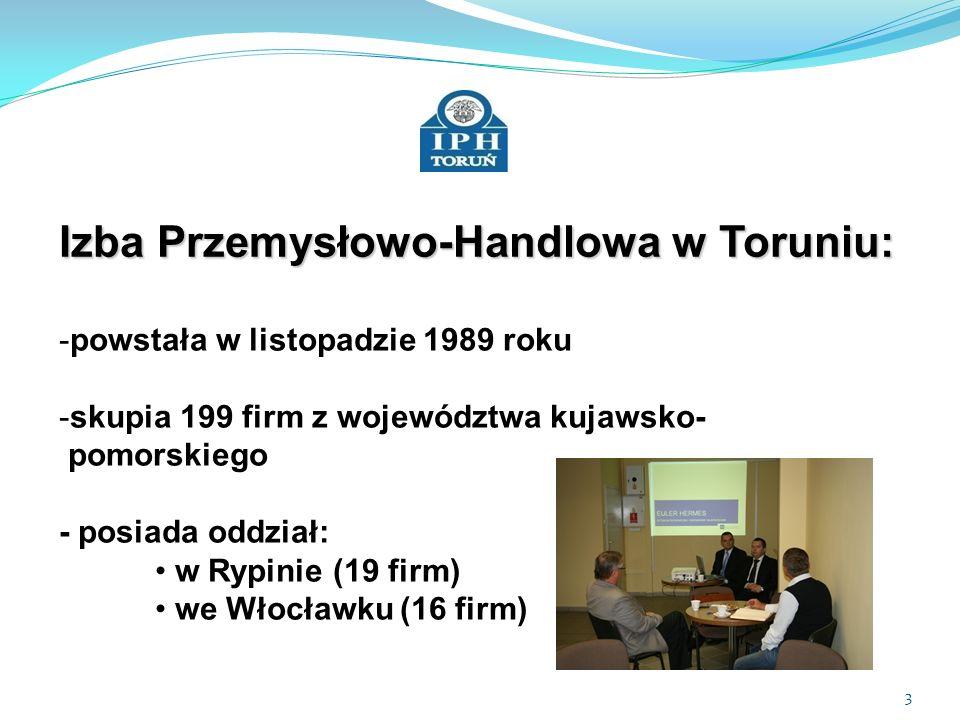 4 Główne cele Izby Przemysłowo-Handlowej w Toruniu -reprezentowanie interesów środowiska - gospodarczego wobec władz samorządu terytorialnego -kształtowanie polityki gospodarczej w regionie -promocja etycznych zachowań w biznesie - integracja środowiska gospodarczego