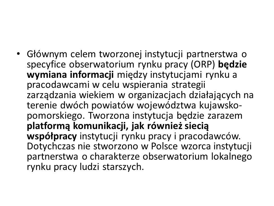 Głównym celem tworzonej instytucji partnerstwa o specyfice obserwatorium rynku pracy (ORP) będzie wymiana informacji między instytucjami rynku a praco