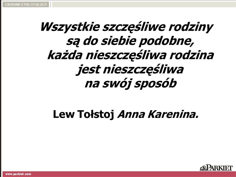 Wszystkie szczęśliwe rodziny są do siebie podobne, każda nieszczęśliwa rodzina jest nieszczęśliwa na swój sposób Lew Tołstoj Anna Karenina.