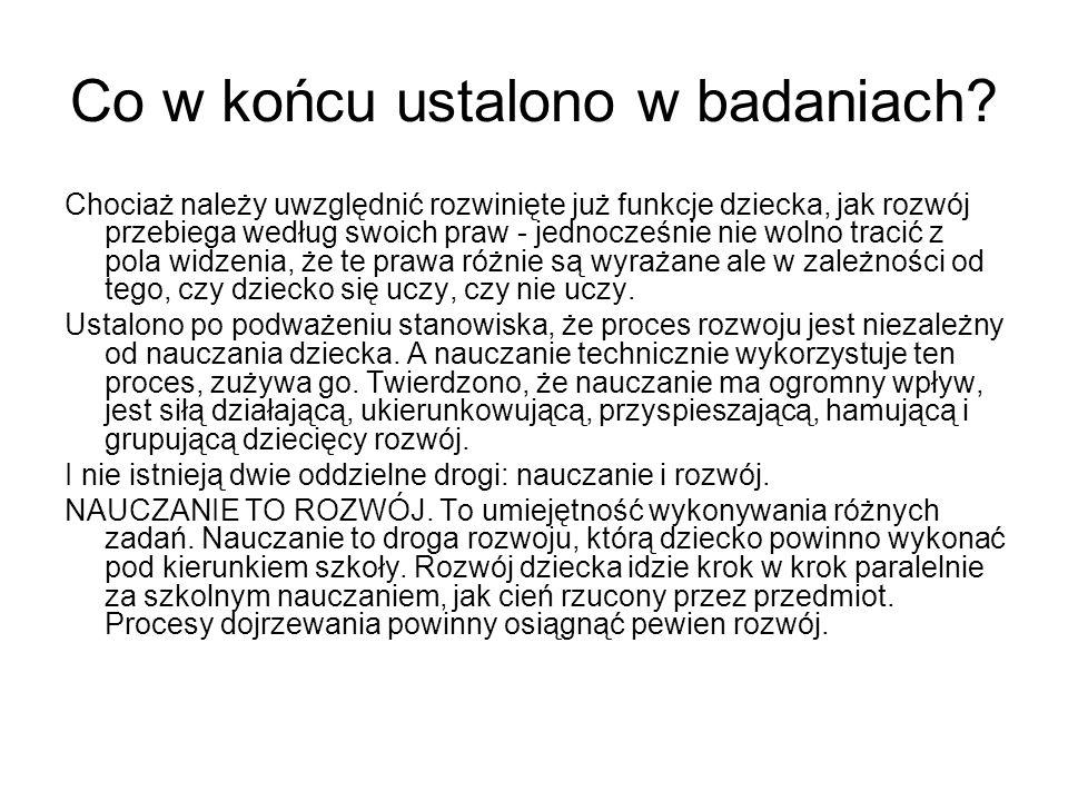 Lew S.Wygodskij- abstrakcyjne ujęcie nauczania.