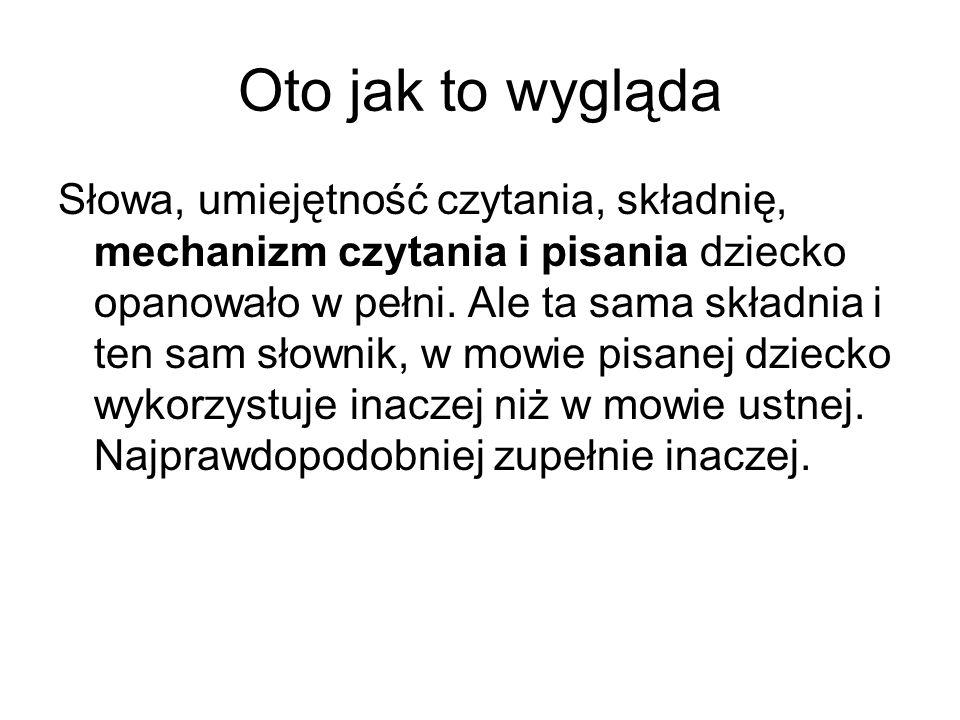 Czy.- Czy mowa pisana jest prostym tłumaczeniem mowy ustnej na znaki pisma.