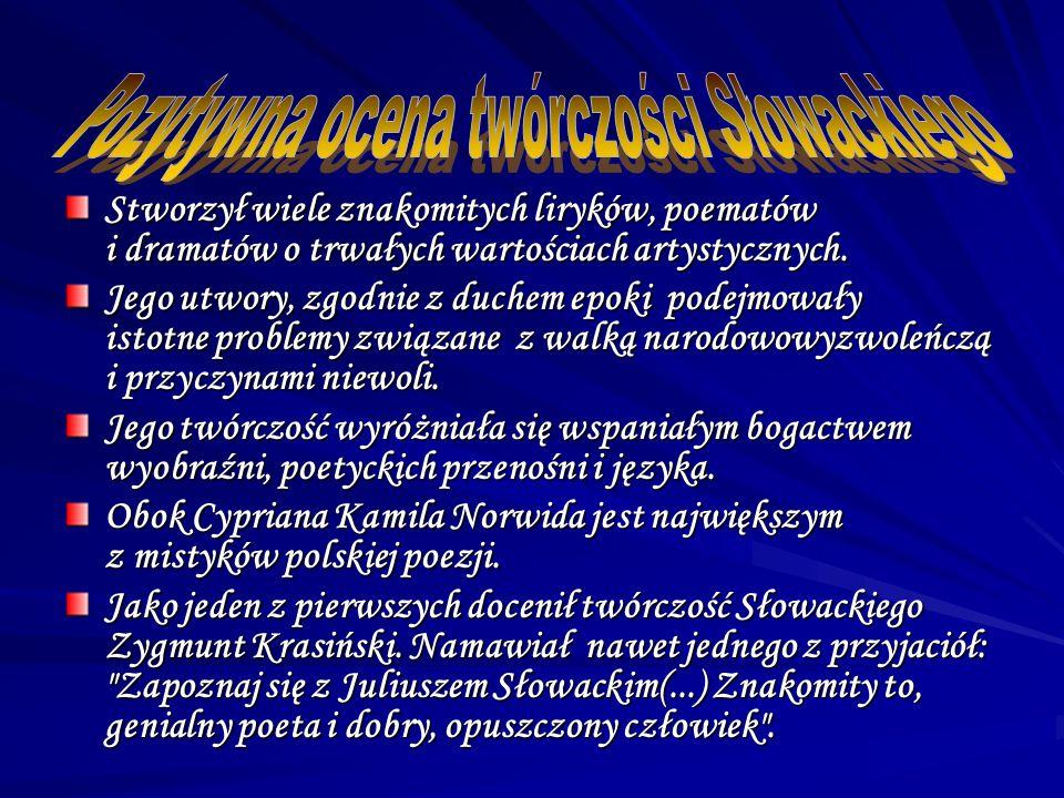 Pomnik Słowackiego dłuta W.