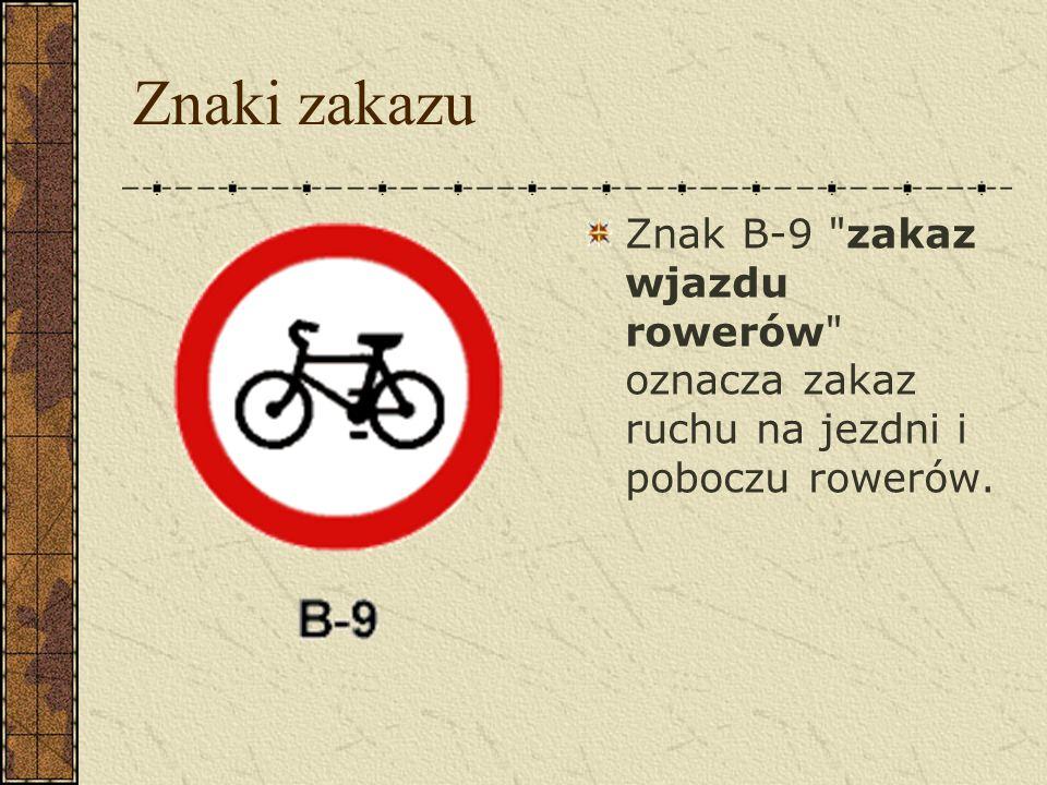 Znaki ostrzegawcze Znak A-24 rowerzyści ostrzega o miejscu, w którym rowerzyści wjeżdżają z drogi dla rowerów na jezdnię lub przez nią przejeżdżają.