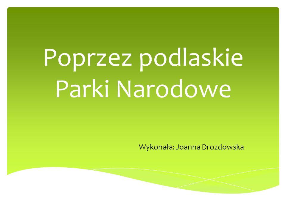 Poprzez podlaskie Parki Narodowe Wykonała: Joanna Drozdowska