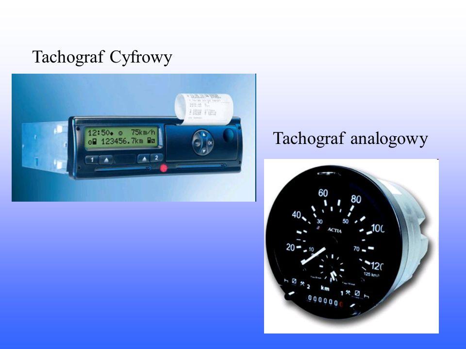 Tachograf Cyfrowy Tachograf analogowy