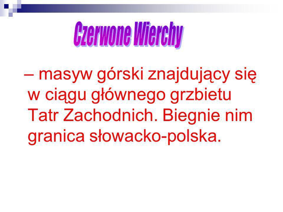 – masyw górski znajdujący się w ciągu głównego grzbietu Tatr Zachodnich. Biegnie nim granica słowacko-polska.