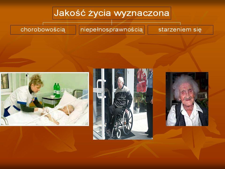 Jakość życia chorych przewlekle, ludzi starych, osób niepełnosprawnych Agnieszka Baraniecka, Sabina Kluz, Monika Kozok, Bożena Wcisło