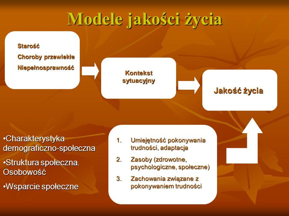 Strategia pokonywania stresującego wydarzenia życiowego (niepełnosprawności) Choroba dziecka Niepełnosprawność Kontekst sytuacyjny Jakość życia 1.Umie