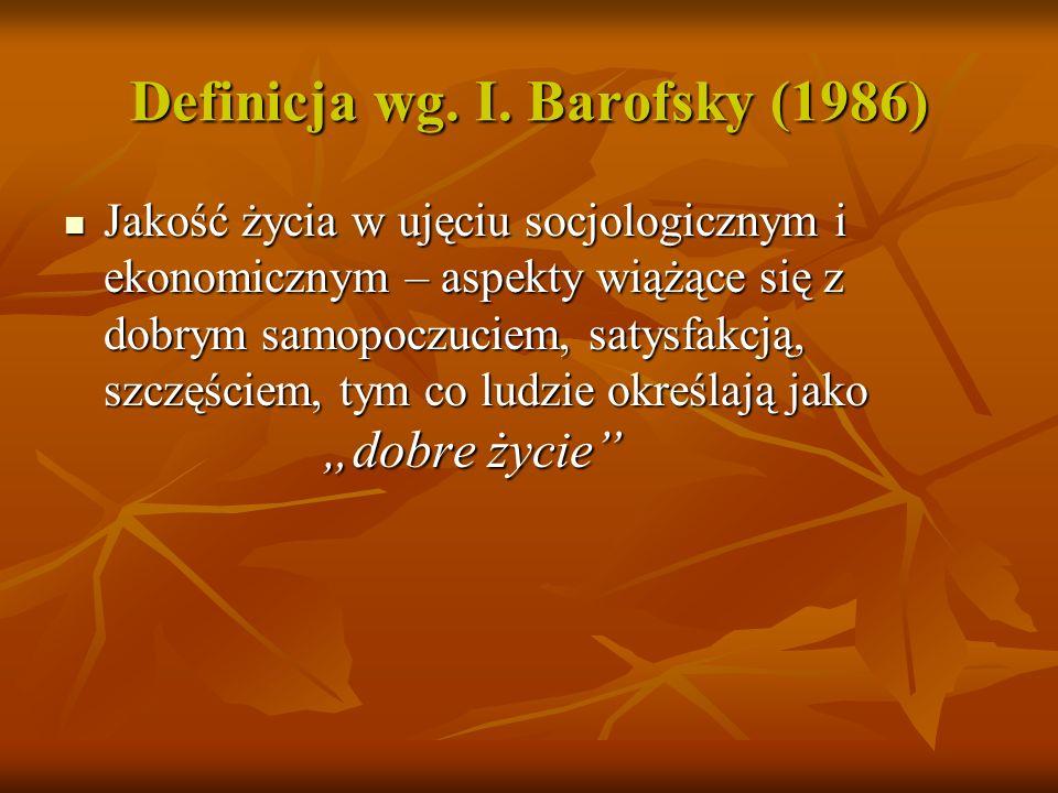 Definicja wg. S. Ebrahim (1995) Jakość życia uwarunkowana stanem zdrowia jest wyznaczona długością życia i modyfikowana przez niepełnosprawność fizycz