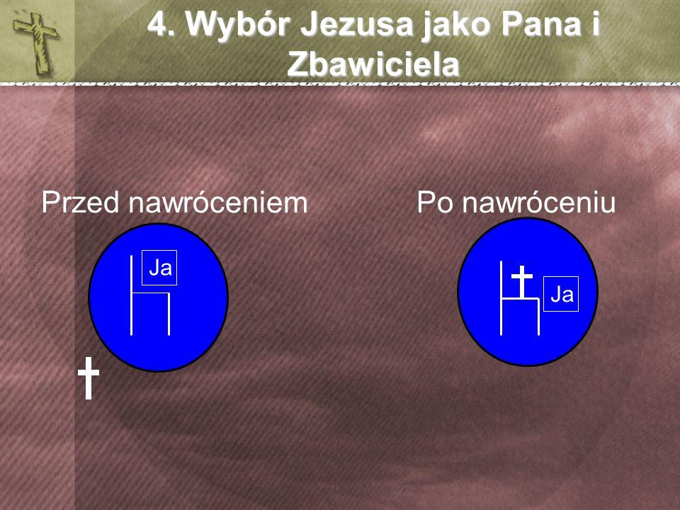 4. Wybór Jezusa jako Pana i Zbawiciela Przed nawróceniem Po nawróceniu Ja