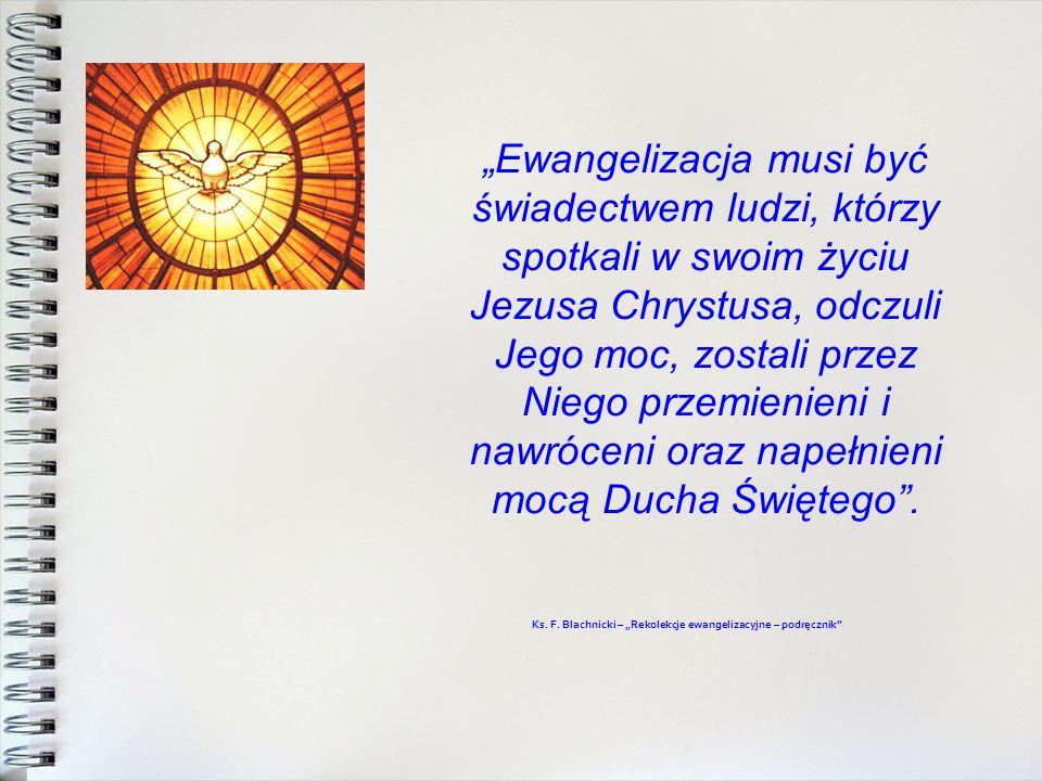 Ewangelizacja musi być świadectwem ludzi, którzy spotkali w swoim życiu Jezusa Chrystusa, odczuli Jego moc, zostali przez Niego przemienieni i nawróce