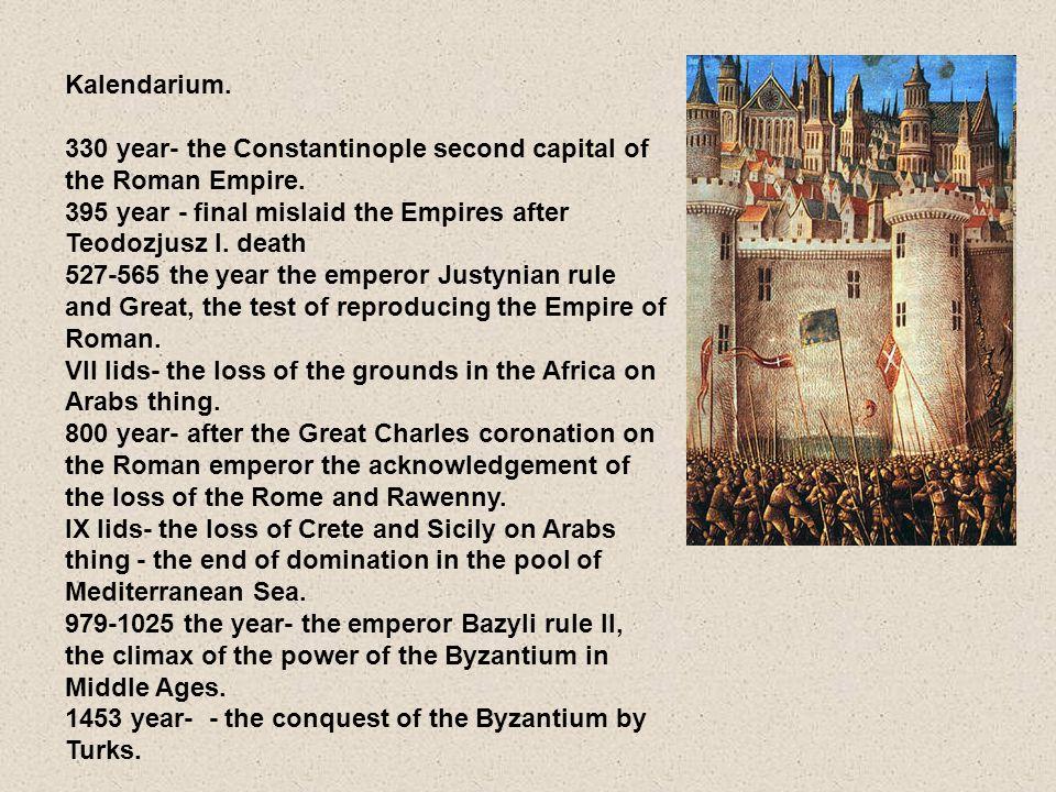 Kalendarium.330 rok- Konstantynopol drugą stolicą Cesarstwa Rzymskiego.