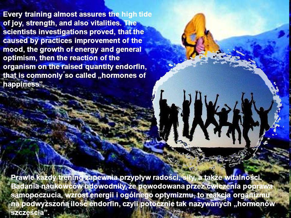 Prawie każdy trening zapewnia przypływ radości, siły, a także witalności. Badania naukowców udowodniły, że powodowana przez ćwiczenia poprawa samopocz