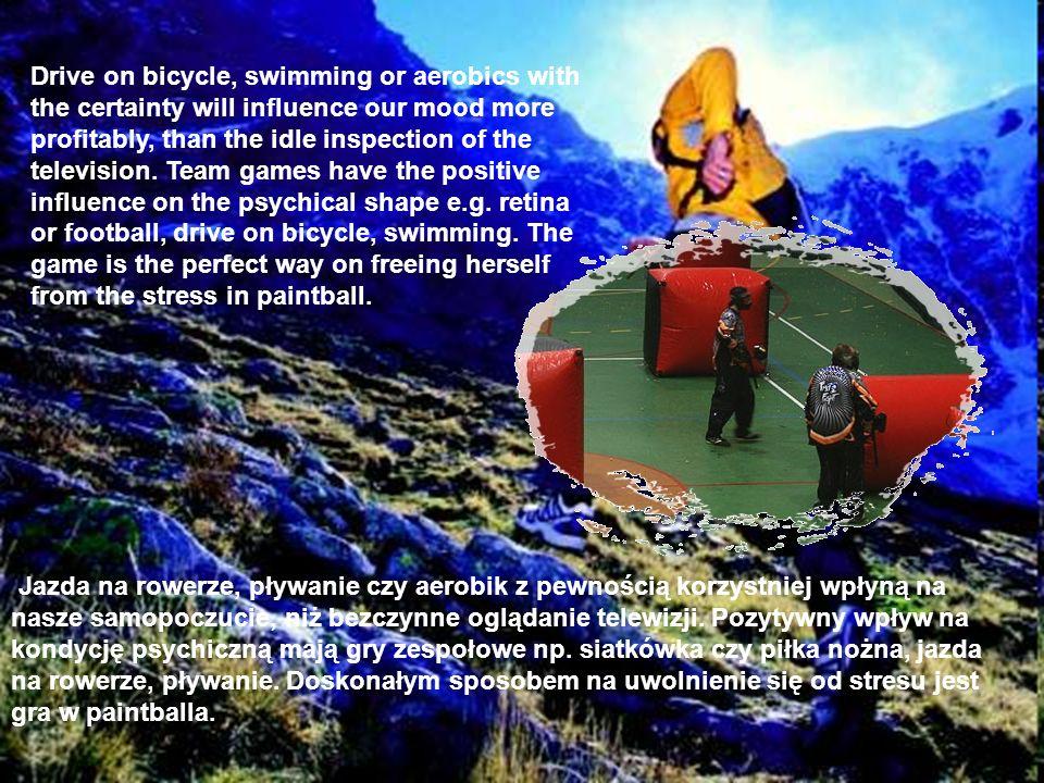 Jazda na rowerze, pływanie czy aerobik z pewnością korzystniej wpłyną na nasze samopoczucie, niż bezczynne oglądanie telewizji. Pozytywny wpływ na kon