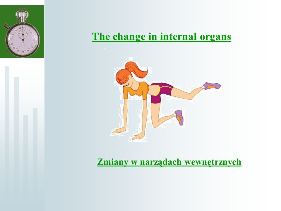 Zmiany w narządach wewnętrznych The change in internal organs