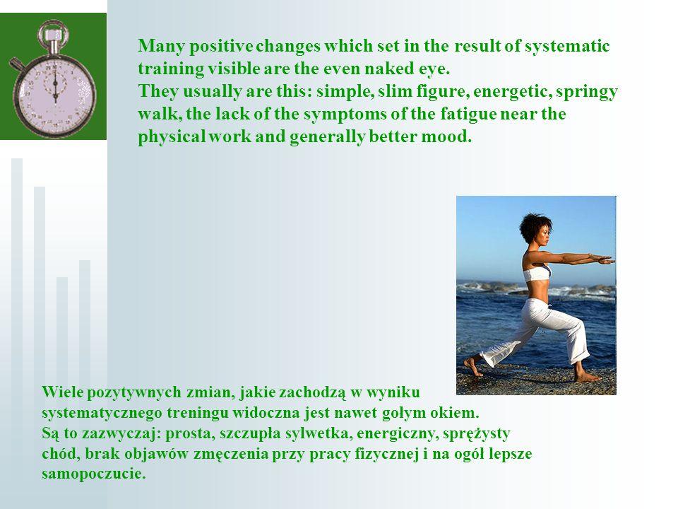 Wiele pozytywnych zmian, jakie zachodzą w wyniku systematycznego treningu widoczna jest nawet gołym okiem.