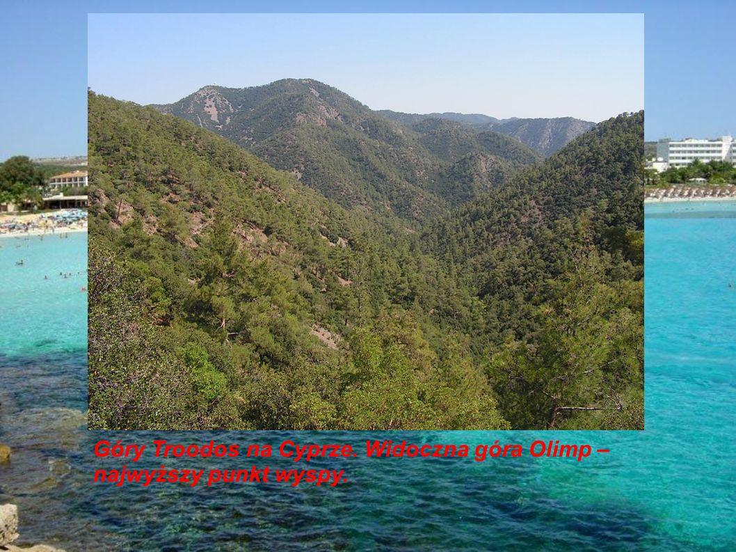 Góry Troodos na Cyprze. Widoczna góra Olimp – najwyższy punkt wyspy.