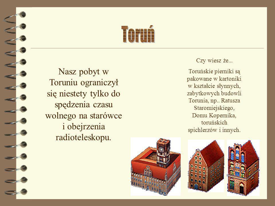 Czy wiesz że... Toruńskie pierniki są pakowane w kartoniki w kształcie słynnych, zabytkowych budowli Torunia, np.. Ratusza Staromiejskiego, Domu Koper