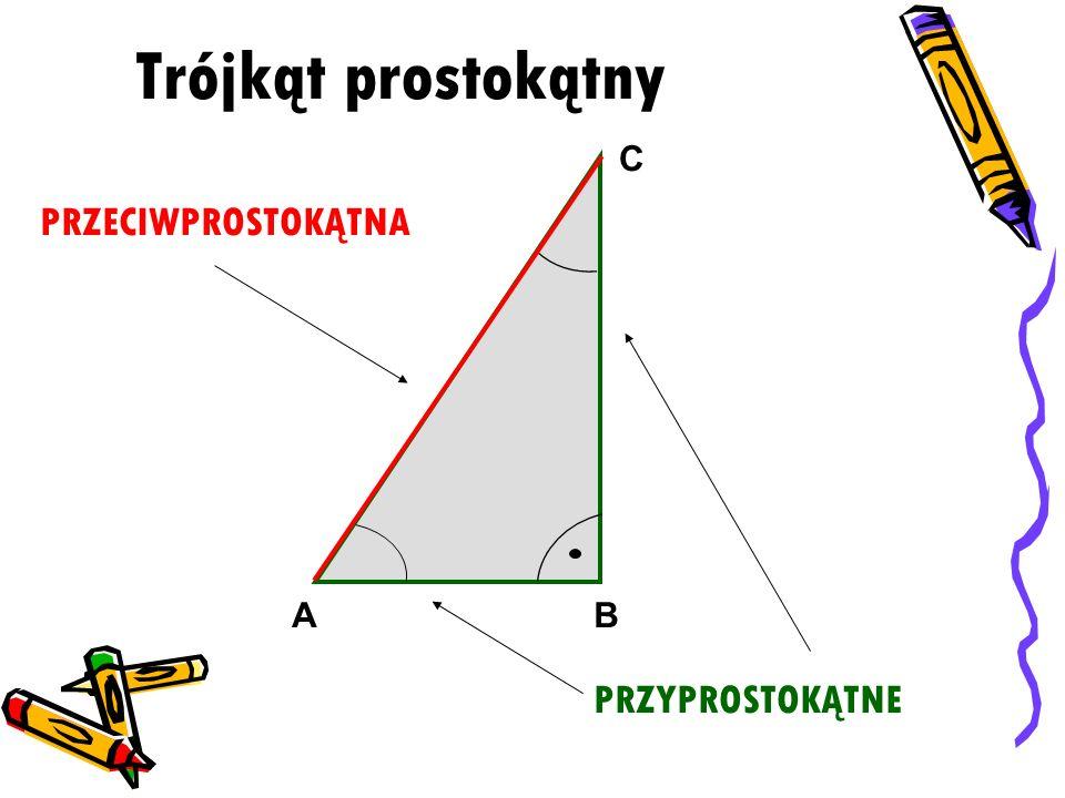 Twierdzenie: Suma miar kątów wewnętrznych trójkąta jest równa 180° BA C αβ γ α + β + γ = 180°