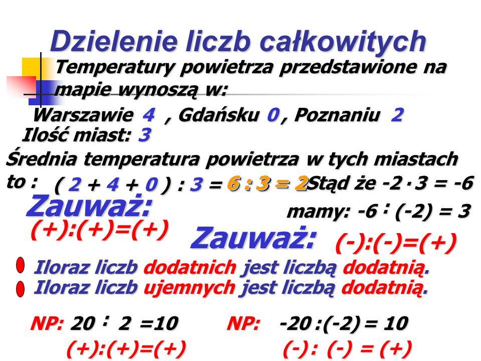 Pomyśl jaką liczbę wstawić w wyznaczone miejsca. Kliknij myszką, otrzymasz właściwą odpowiedź. -6. (-2) = 12 12 -7. 5 = -35. (-3) = -9 3. -9 = 18 -2 5