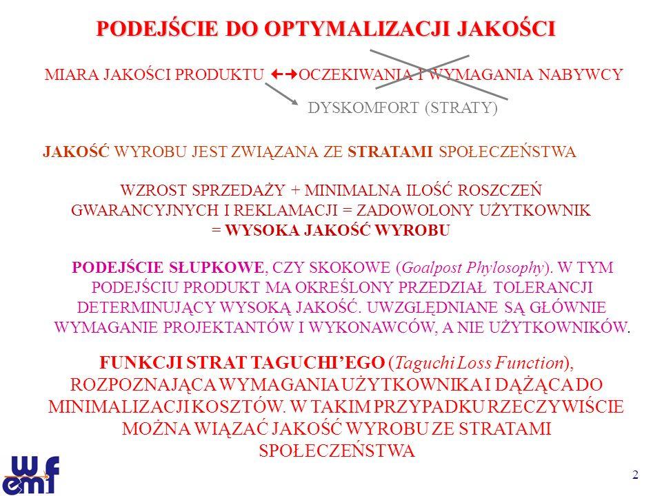 23 ANALIZA WARIANCJI ANOVA DWUCZYNNIKOWA Przykład.