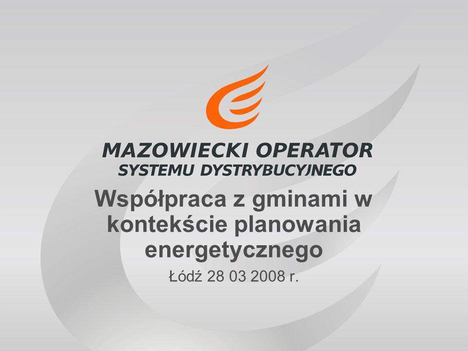 Łódź 28 03 2008 r. Współpraca z gminami w kontekście planowania energetycznego