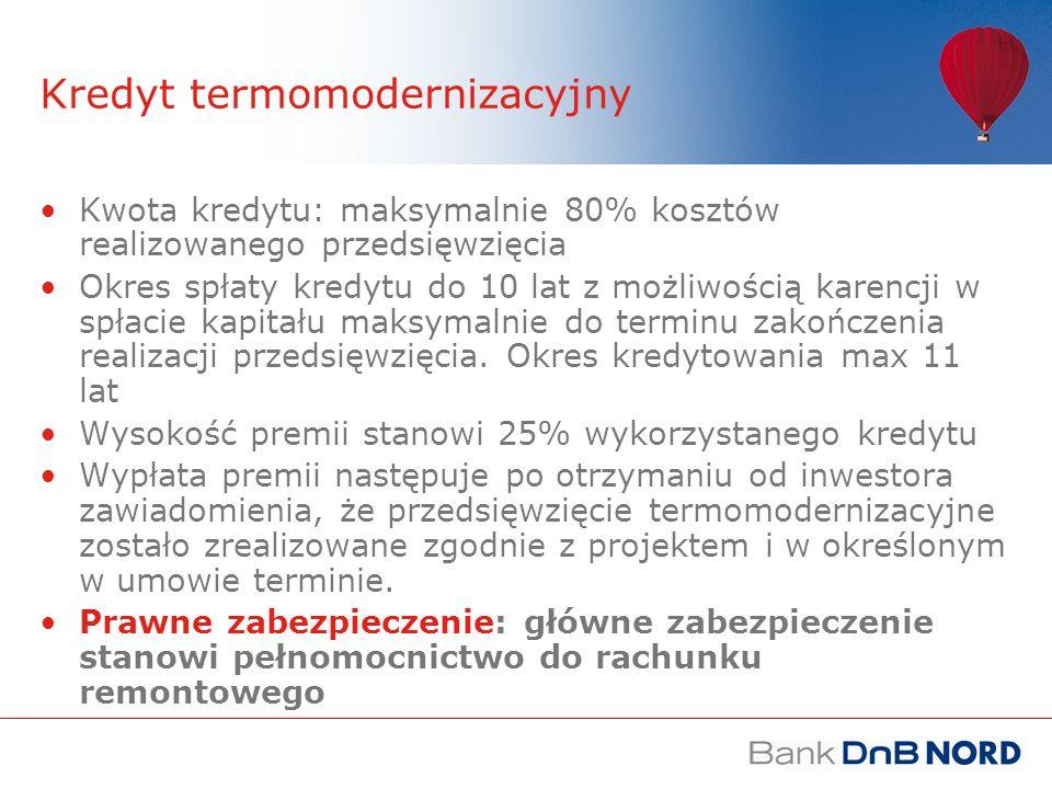 Kredyt termomodernizacyjny Jaka wysokość dopłat do funduszu remontowego, aby możliwe było sfinansowanie inwestycji.