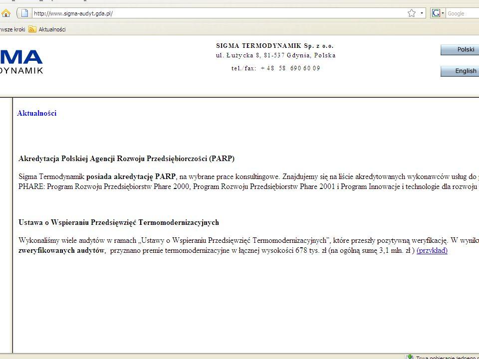 Historia Sigma Termodynamik Sp.z o.o.