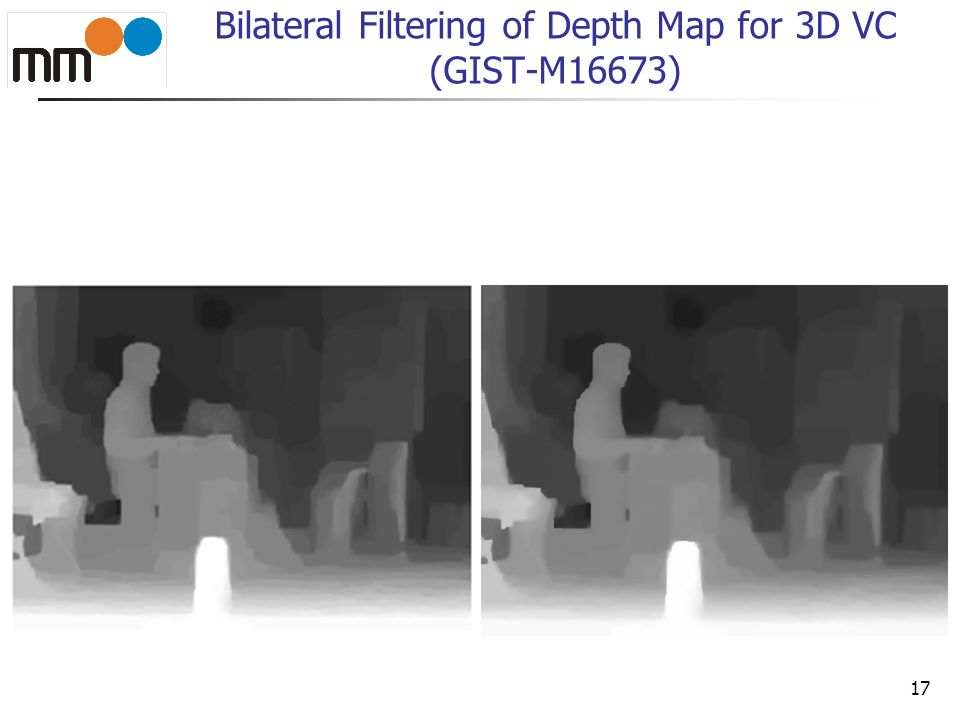 18 Bilateral Filtering of Depth Map for 3D VC (GIST-M16673)