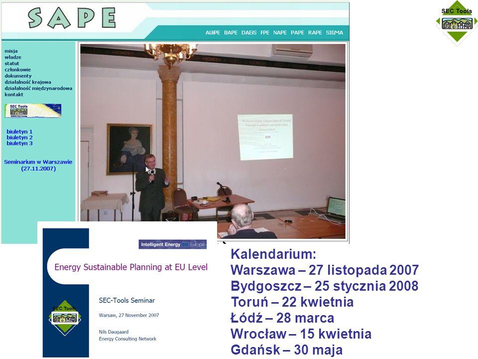 Kalendarium: Warszawa – 27 listopada 2007 Bydgoszcz – 25 stycznia 2008 Toruń – 22 kwietnia Łódź – 28 marca Wrocław – 15 kwietnia Gdańsk – 30 maja