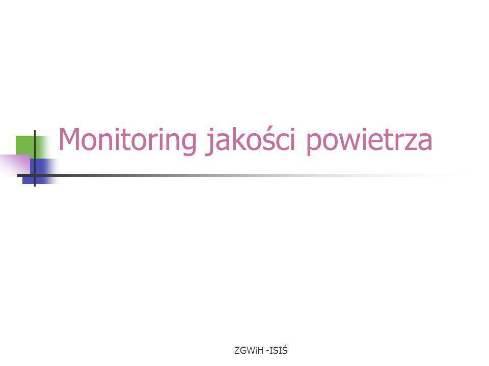 ZGWiH -ISIŚ Monitoring jakości powietrza
