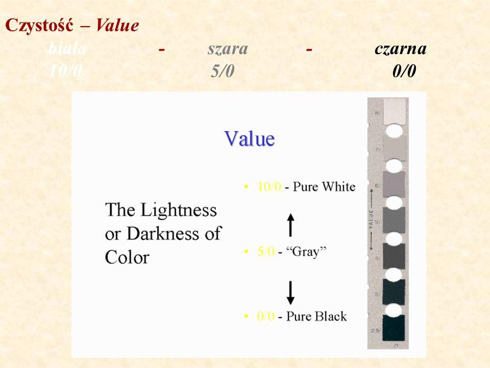 Czystość – Value biała - szara - czarna 10/0 5/0 0/0