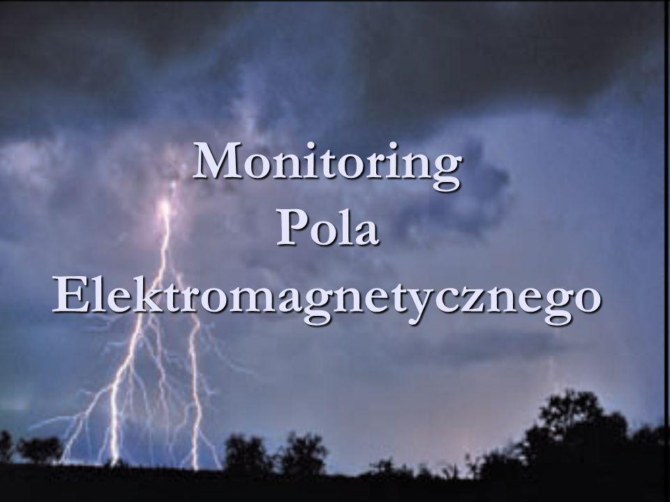 Pole elektromagnetyczne Pole elektromagnetyczne jest układem dwóch pól: pola elektrycznego i pola magnetycznego Pole elektromagnetyczne jest układem dwóch pól: pola elektrycznego i pola magnetycznego Promieniowanie elektromagnetyczne (fala elektromagnetyczna) rozchodzące się w przestrzeni zaburzenie pola elektromagnetycznego Promieniowanie elektromagnetyczne (fala elektromagnetyczna) rozchodzące się w przestrzeni zaburzenie pola elektromagnetycznego