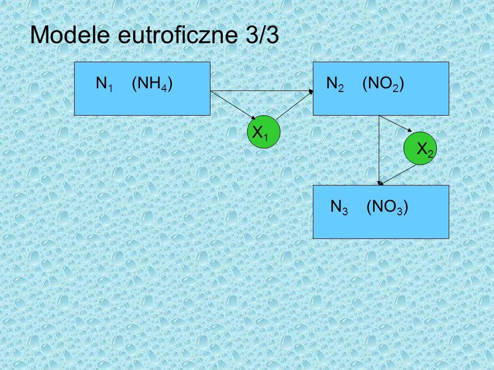 Modele eutroficzne 3/3 N 1 (NH 4 )N 2 (NO 2 ) N 3 (NO 3 ) X1X1 X2X2