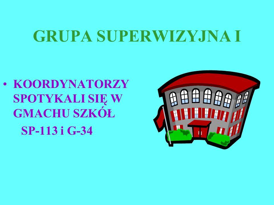 GRUPA SUPERWIZYJNA I KOORDYNATORZY SPOTYKALI SIĘ W GMACHU SZKÓŁ SP-113 i G-34