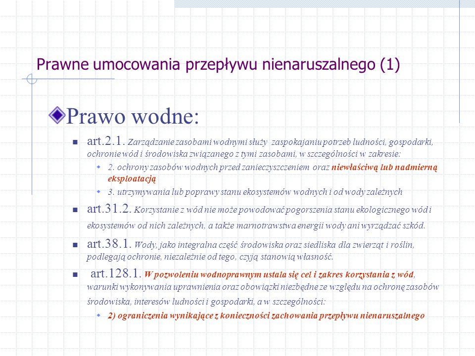 Obliczanie przepływu nienaruszalnego wg kryterium turystyki wodnej i rekreacji (2) Zależność między przepływem a głębokością napełnienia koryta: Sezon turystyczny w Polsce trwa od VI do IX Wymagania szlaków wodnych