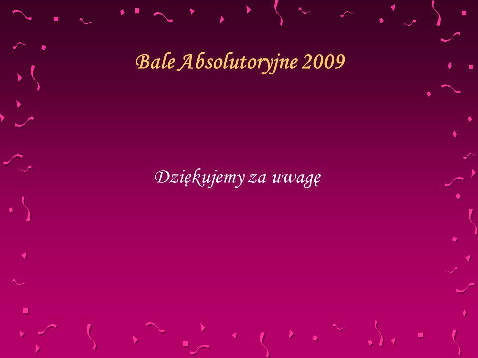 Bale Absolutoryjne 2009 Dziękujemy za uwagę