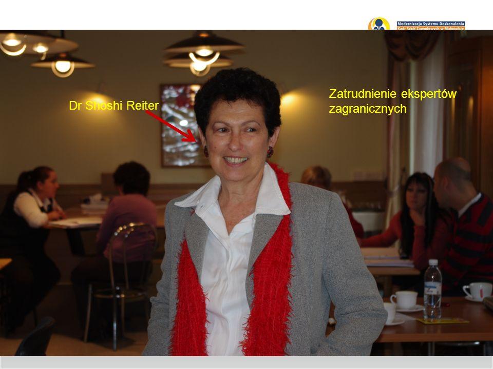 Zatrudnienie ekspertów zagranicznych Dr Shoshi Reiter