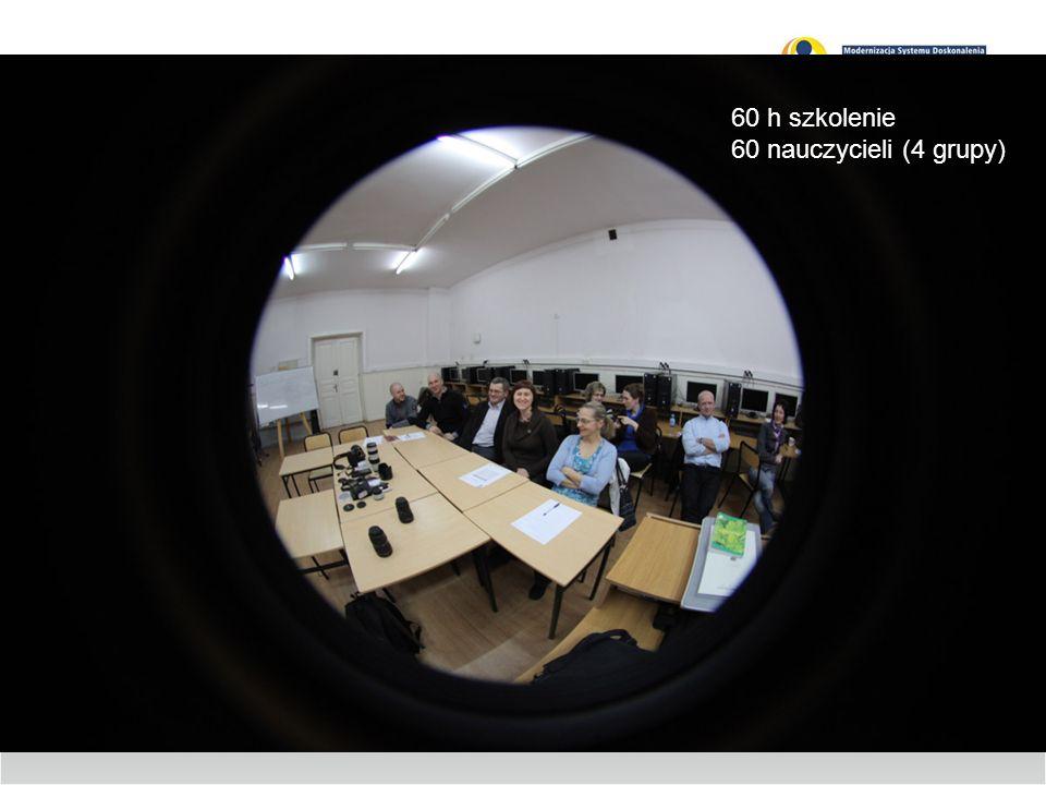 60 h szkolenie 60 nauczycieli (4 grupy)