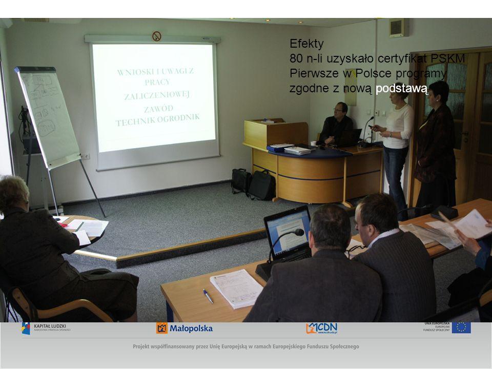 Efekty 80 n-li uzyskało certyfikat PSKM Pierwsze w Polsce programy zgodne z nową podstawą
