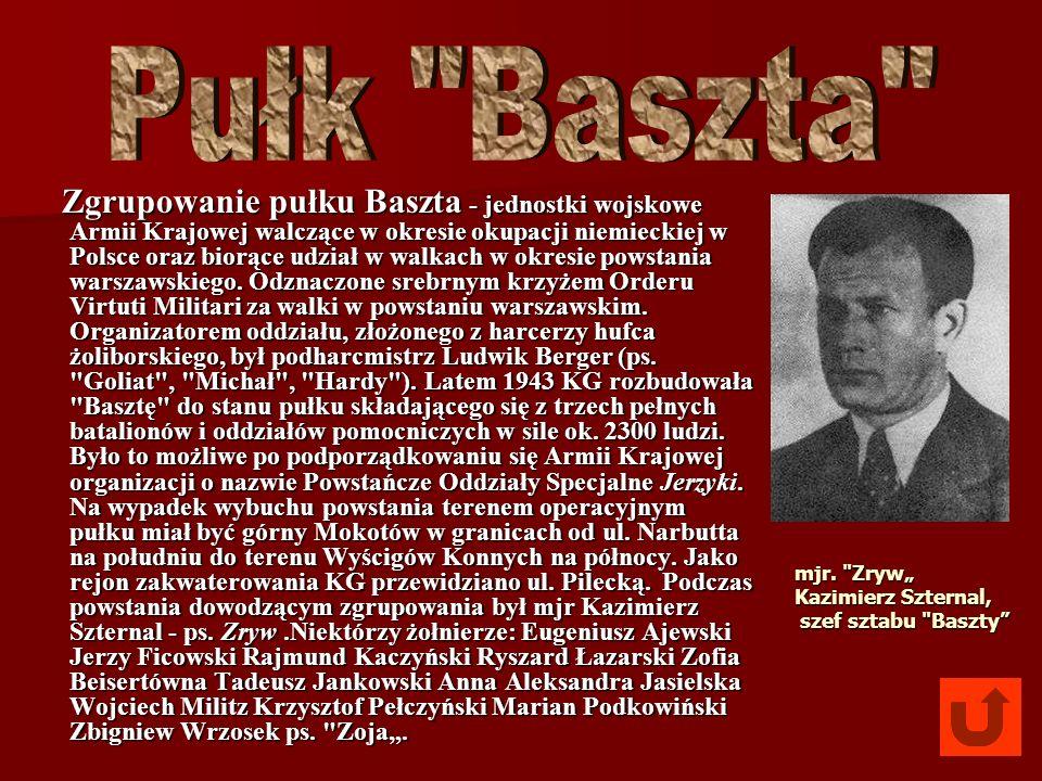 Zgrupowanie pułku Baszta - jednostki wojskowe Armii Krajowej walczące w okresie okupacji niemieckiej w Polsce oraz biorące udział w walkach w okresie